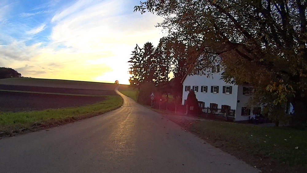 "Scene from ""Cycling to Landsberg at Sundown"""